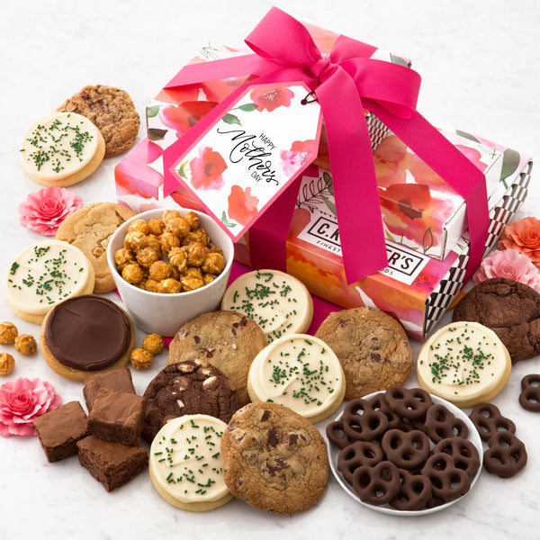 Happy Mother's Day Poppies Gift Stack - Cookies & Snacks