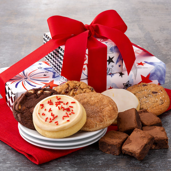 Patriotic Sampler Stack - Cookies & Brownies