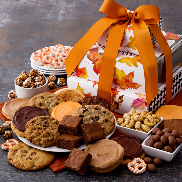 Fall Leaves Gift Stack - Cookies & Snacks