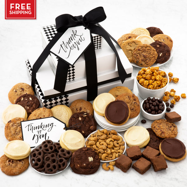 C. Krueger's Every Occasion Deluxe Gift Stack - Cookies & Snacks