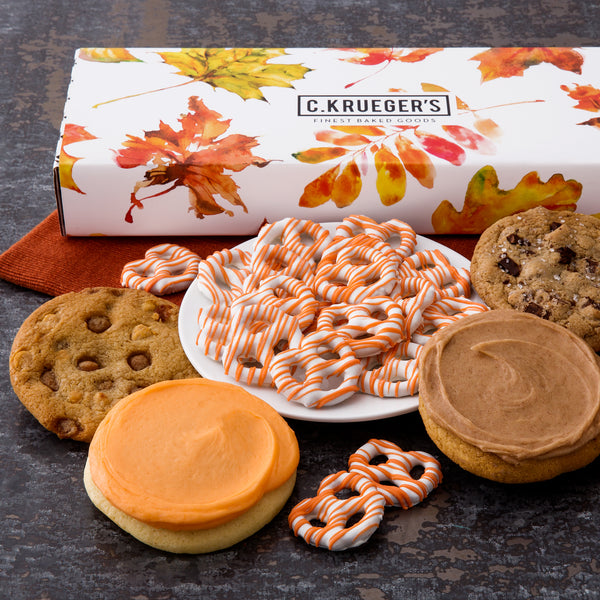 Fall Leaves Sampler Box - Cookies & Snacks