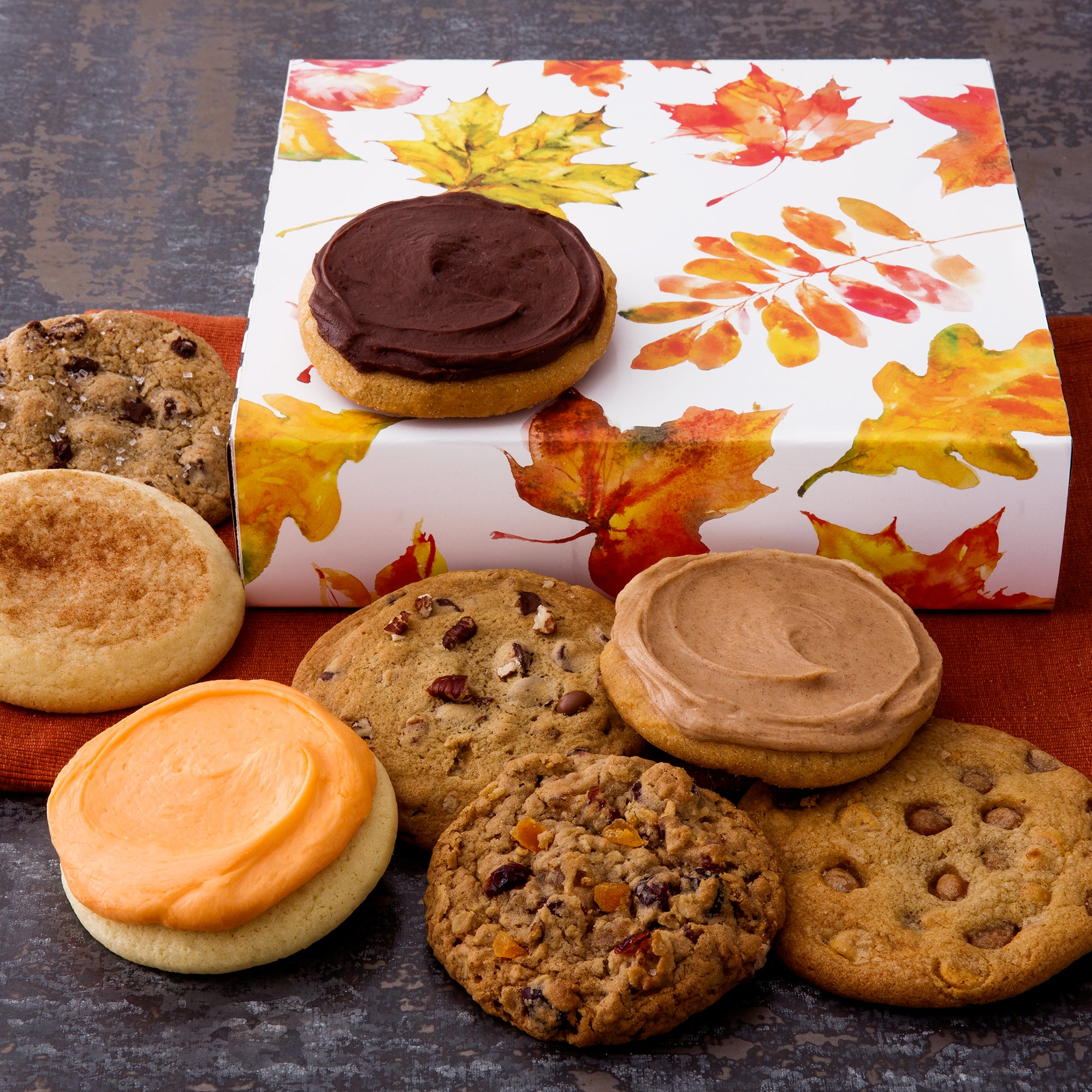 Fall Leaves Sampler Cookie Box