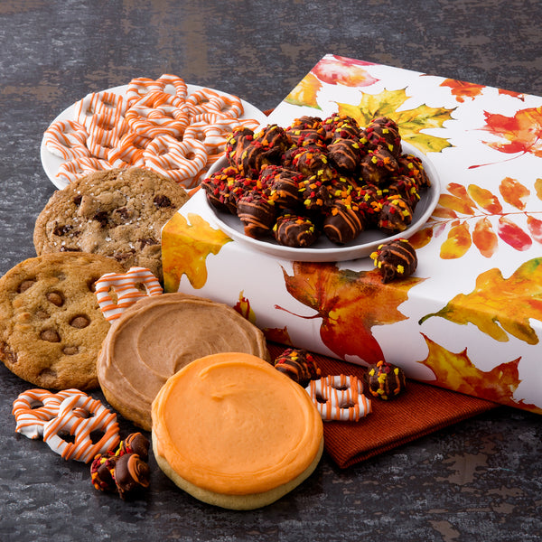 Fall Leaves Cookies & Snacks Sampler Box