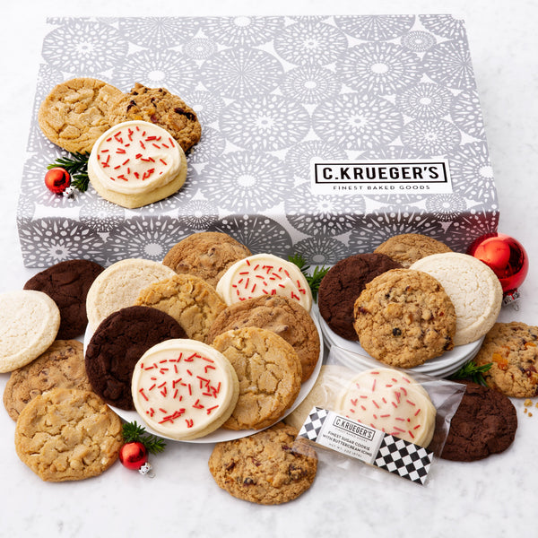 Silver Snowflake Slide Gift Box - Select Your Cookies
