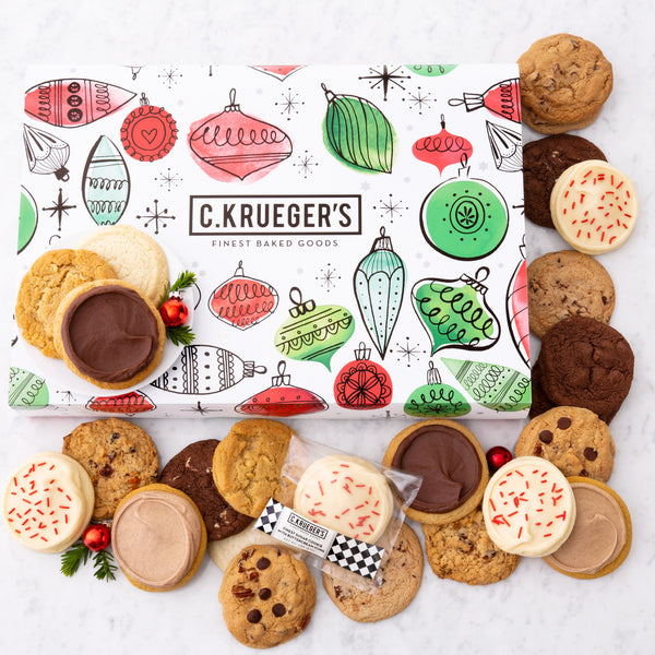Holiday Ornament Slide Gift Box - Select Your Cookies
