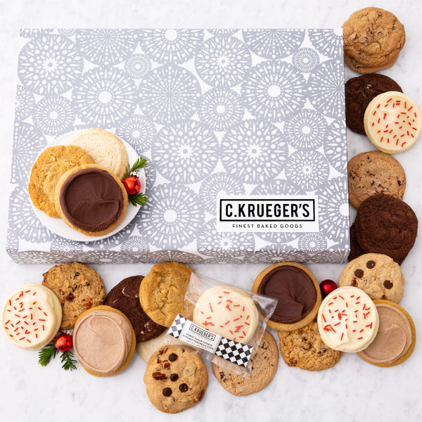 Silver Snowflake Slide Gift Box - Every Flavor Cookie We Bake