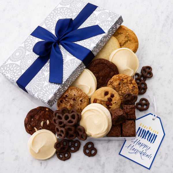 Happy Hanukkah Luxe Gift Box - Cookies & Snacks