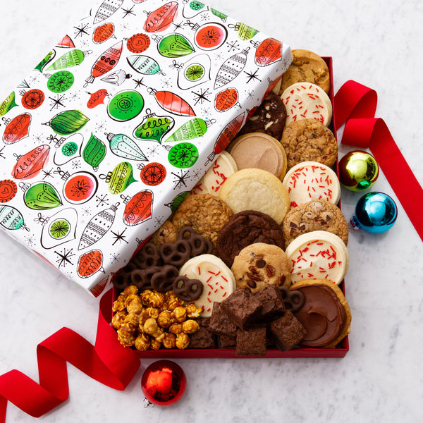 Christmas Ornaments Large Luxe Gift Box - Cookies & Snacks