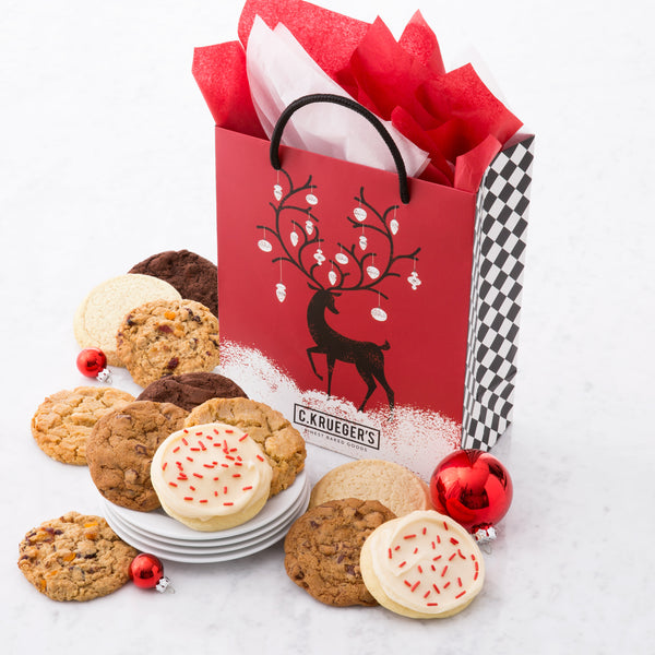 Winter Deer Gift Bag - Select Your Cookies
