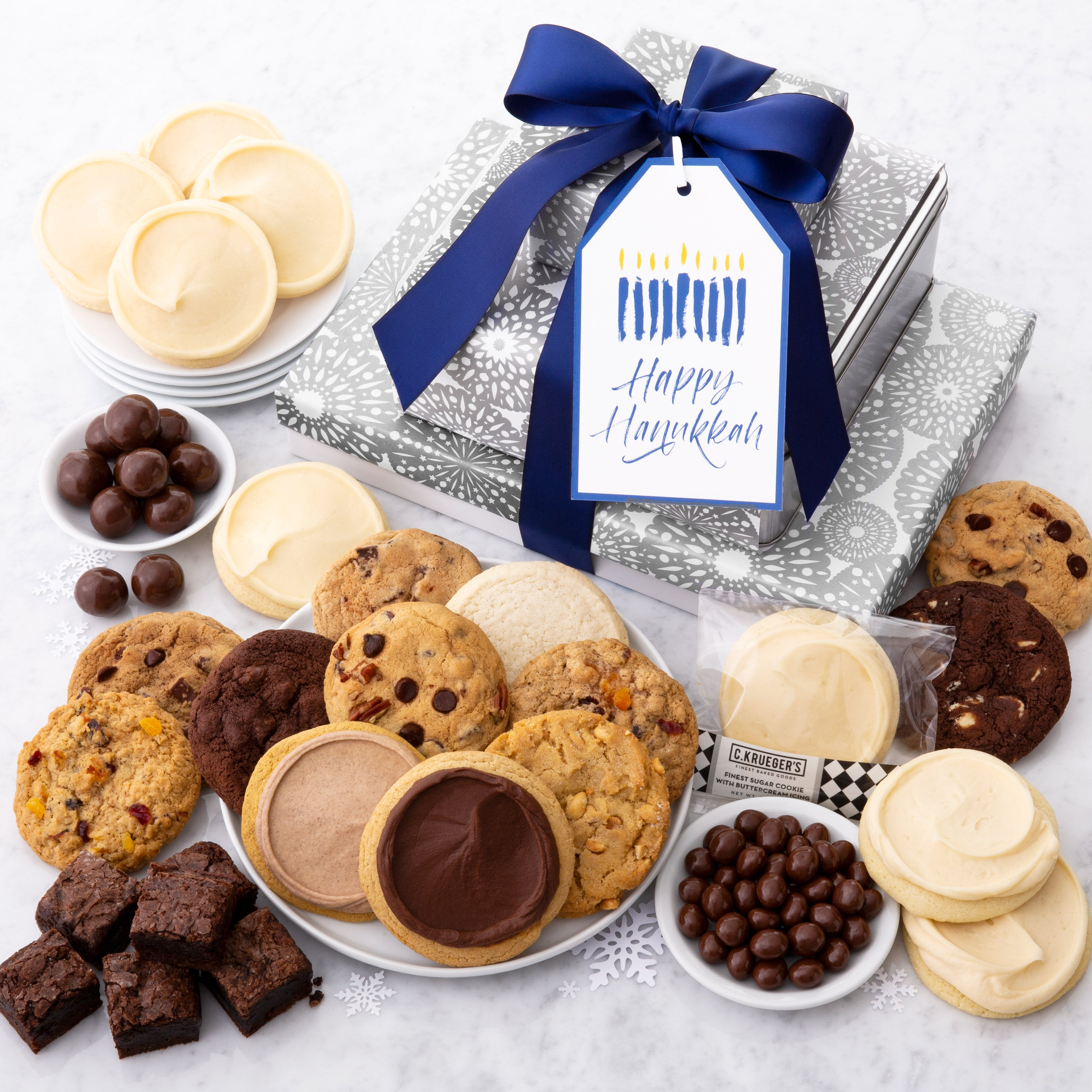 Happy Hanukkah Gift Stack - Cookies & Snacks