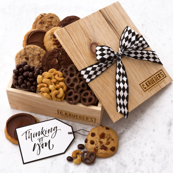 Thinking of You Gift Crate - Cookies & Snacks