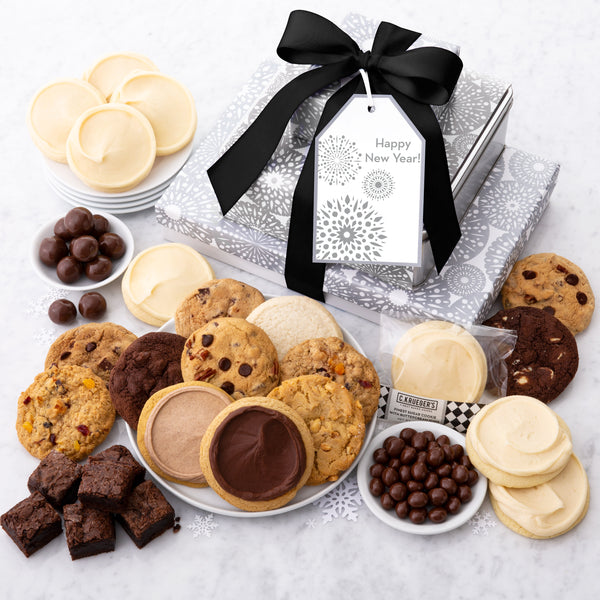 Happy New Year Gift Stack - Cookies & Snacks