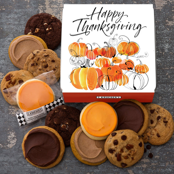 Thanksgiving Pumpkin Gift Tin - Favorites Assortment