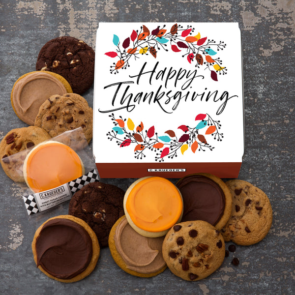 Thanksgiving Wreath Gift Tin - Every Flavor Cookie We Bake