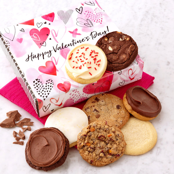 Happy Valentine's Sampler Cookie Box