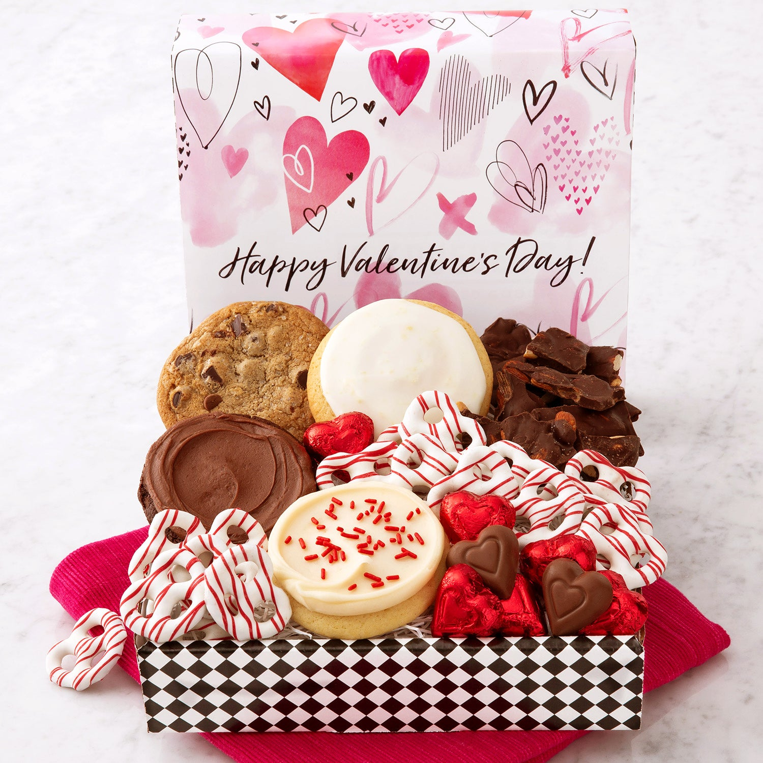 Happy Valentine's Sampler Cookies & Snack Box
