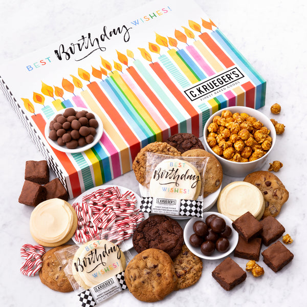 Birthday Slide Gift Box - Cookies & Snacks