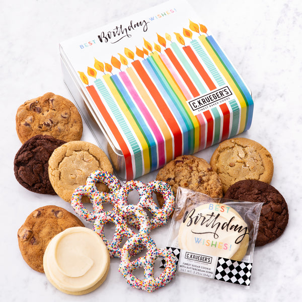 Birthday Gift Tin - Cookies & Pretzels
