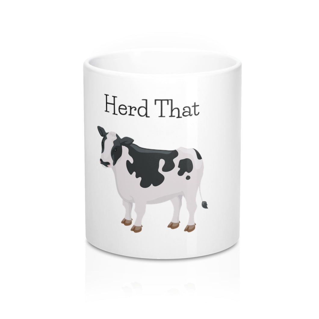 Herd That! Cow Mug for Coffee, Hot Chocolate or Tea.