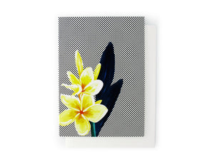 ARTISAN GREETING CARD Frangipani - Lisa & Alex