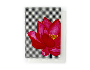 ARTISAN GREETING CARD Lotus Flower - Lisa & Alex