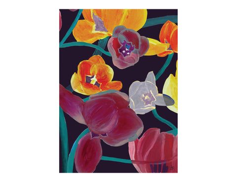 ARTISAN A3 WALL PRINT Atomic Flower - Lisa & Alex