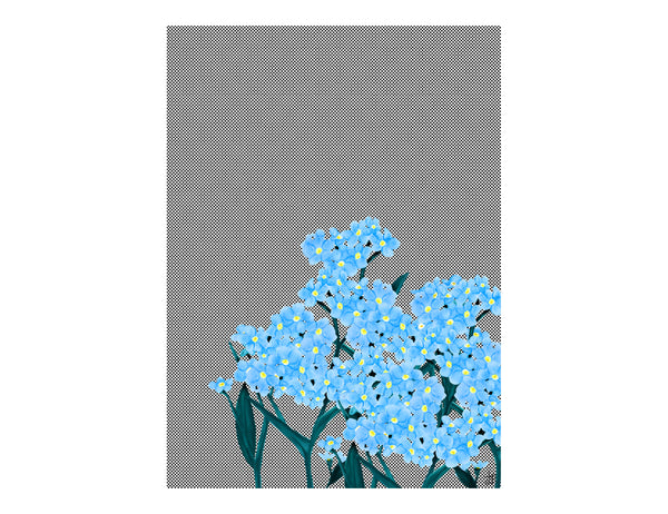 ARTISAN A3 WALL PRINT Elderflower & Coconut - Lisa & Alex