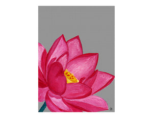ARTISAN A3 WALL PRINT Lotus Flower - Lisa & Alex