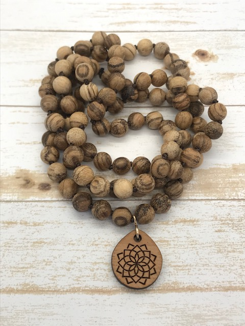 Tigerwood Mala Necklace