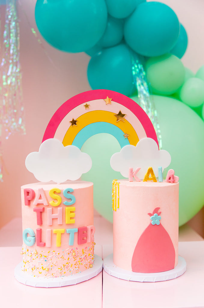 trolls birthday party cake pass the glitter