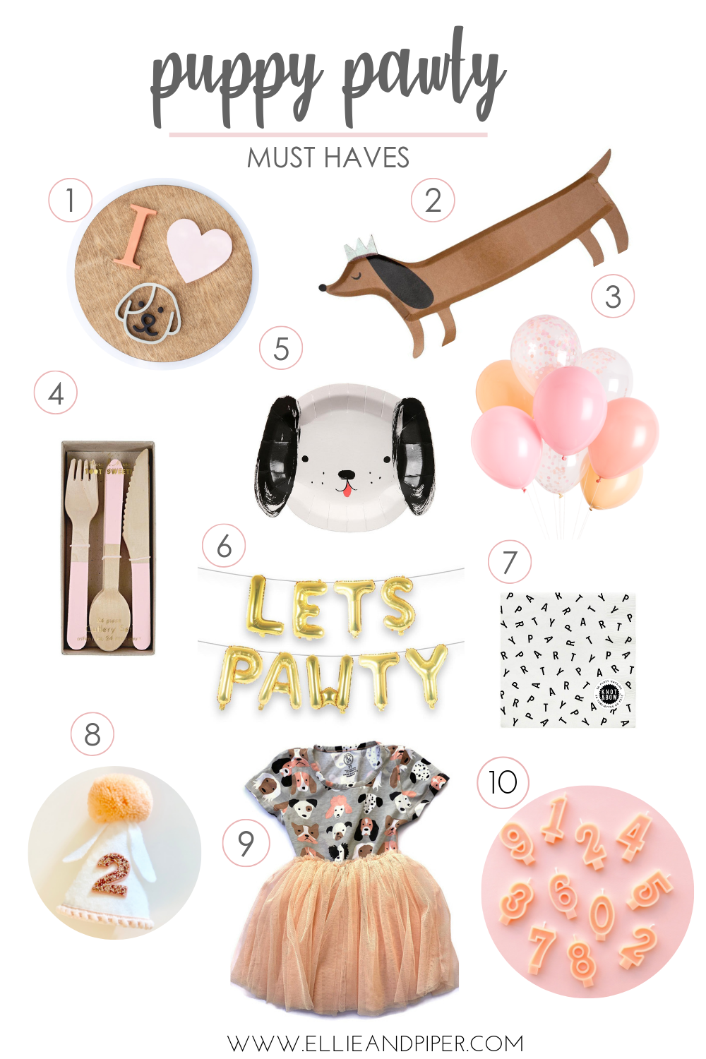 Puppy Pawty Must Haves