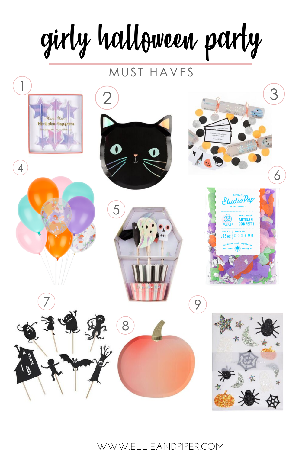 girly halloween party must haves