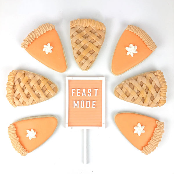 feast mode letter board cake topper