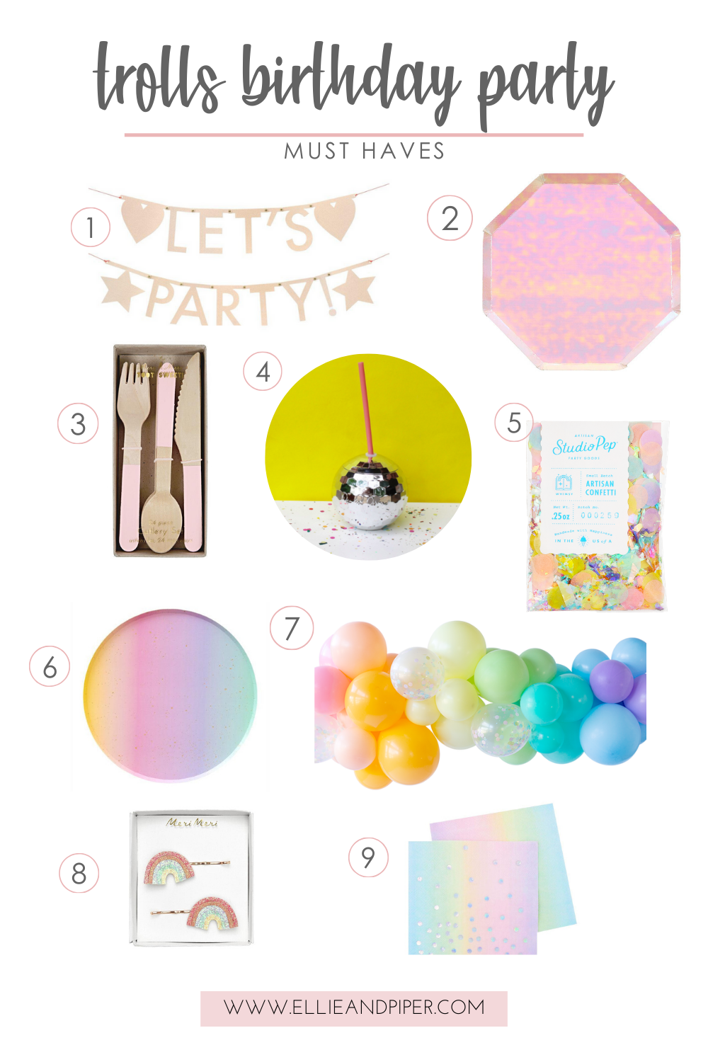 Trolls birthday part must haves from Ellie and piper