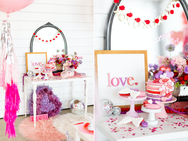 Ellie and piper; party boutique; party supplies; Valentine's Day party; party theme; Valentine's Day party supplies; party inspo; House of Fete