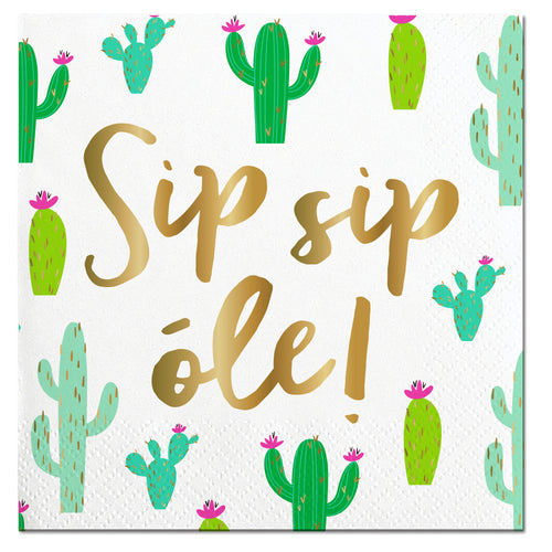Sip Sip Ole Cactus Napkin Ellie & Piper Party Boutique