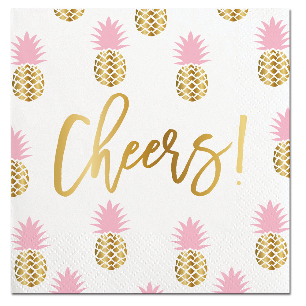 Cheers Pineapple Napkin - Ellie and Piper