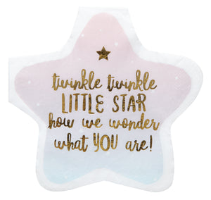 Twinkle Twinkle Little Star Gender Reveal Napkin - Ellie and Piper