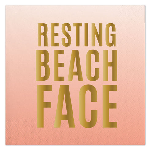 Beach Face Napkins Ellie & Piper Party Boutique