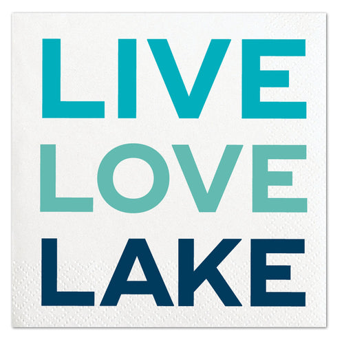 Live Love Lake Napkins Ellie & Piper Party Boutique