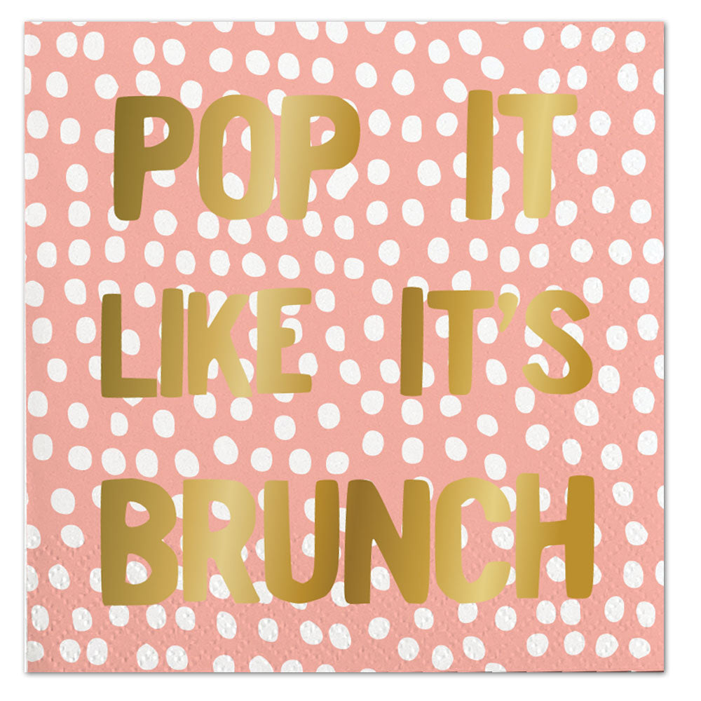 Pop It Like It's Brunch Napkins - Ellie and Piper