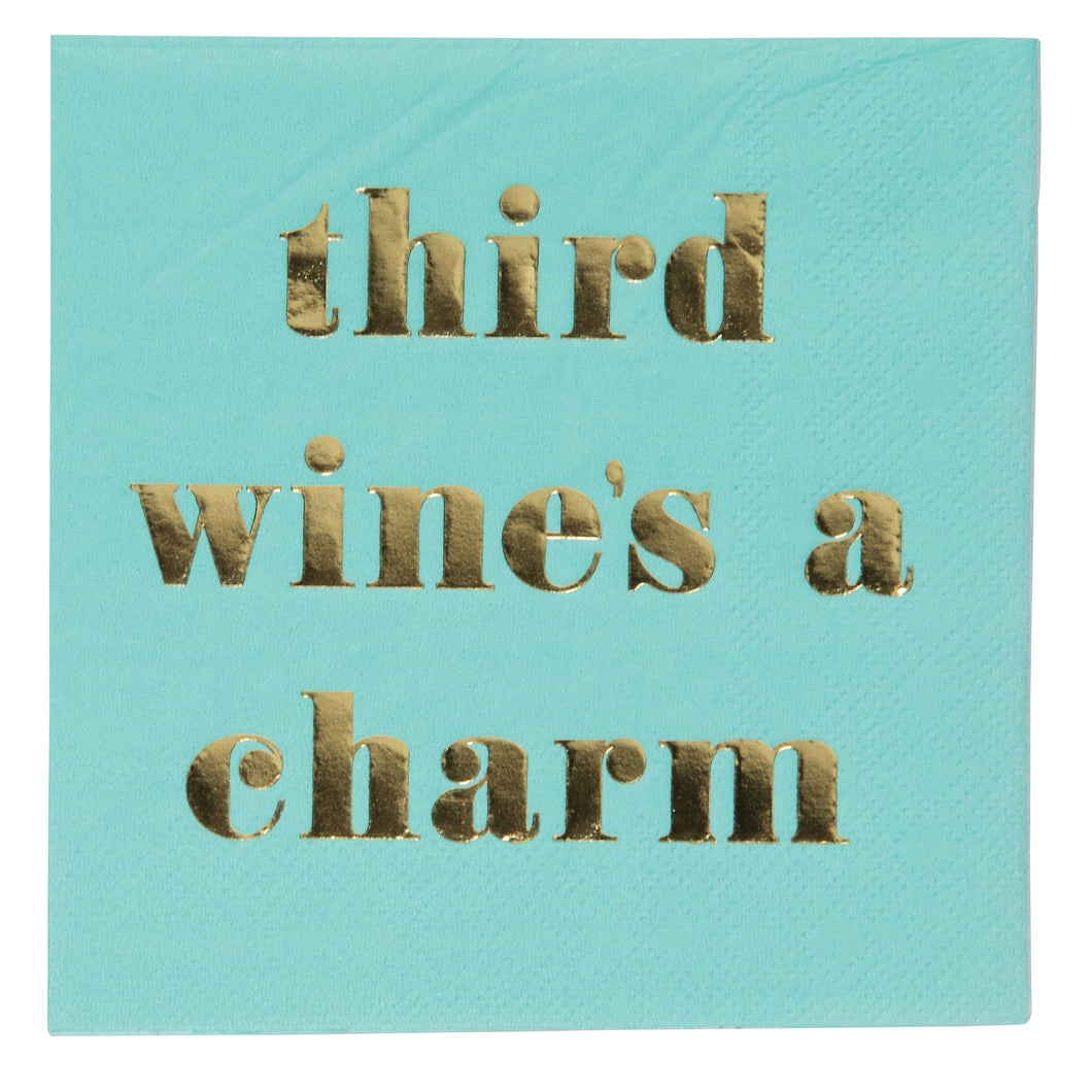 Third Wine's A Charm Napkins - Ellie and Piper