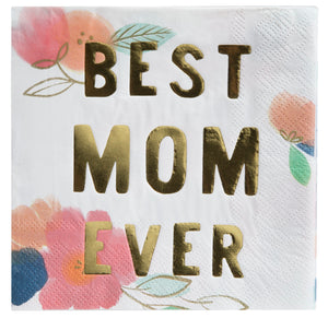 Best Mom Ever Napkins - Ellie and Piper