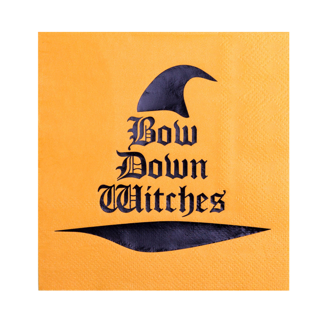 Bow Down Witches Cocktail Napkins - Ellie and Piper