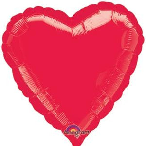 "18"" Heart Shaped Balloon - Red - Ellie and Piper"