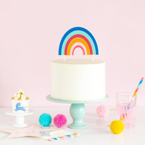 Magical Rainbow Cake Topper - Ellie and Piper