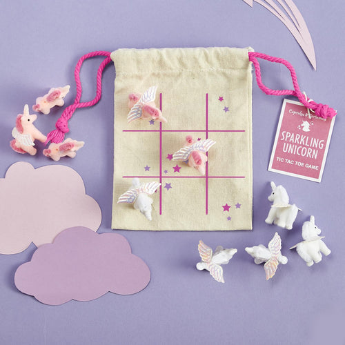 Sparkling Unicorn Tic Tac Toe Game - Ellie and Piper
