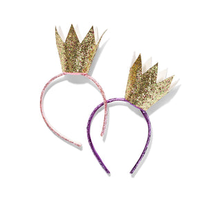 Little Princess Glitter Crown Headband - Ellie and Piper