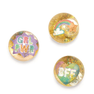 Girl Power LED Light Bouncing Ball - Ellie and Piper