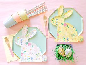 wildflower Meri Meri bunny plates easter brunch kids party Ellie and piper party boutique